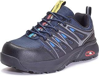 Scarpe Antinfortunistiche Uomo Donna Comodissime Scarpe da Lavoro con Punta in Acciaio Scarpe Sportive di Sicurezza Unisex