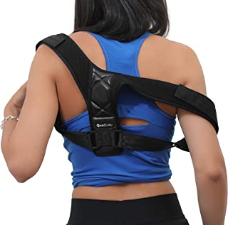 Posture Corrector Back Brace for Women and Men by QuaGuru - FDA Approved - Unisex and Adjustable - Relief Back Neck and Shoulder Pain