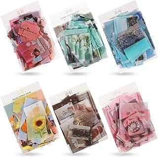 Ensemble de 420 Pièces Autocollant Washi Autocollant Scrapbook Papier Washi Sticker Journal Fleur Plante Vintage Autocolla...