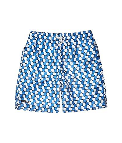 Toobydoo Geo Classic Swim Shorts (Toddler/Little Kids/Big Kids) (Blue) Boy