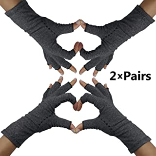 Fingerless Arthritis Compression Gloves – Arthritis Gloves to Help Swollen Hands & Fingers. Rheumatoid Joints & Carpal Tunnel Pain Relief Fits Women & Men. Warms Knuckles and Supports Wrists (Med)
