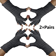 Fingerless Arthritis Compression Gloves – Arthritis Gloves to Help Swollen Hands & Fingers. Rheumatoid Joints & Carpal Tunnel Pain Relief, Fits Women & Men. Warms Knuckles and Supports Wrists (Med)