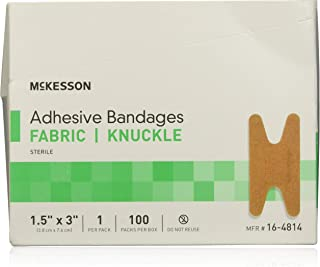 McKesson Medi Pak Performance Bandage Adhesive Fabric Knuckle 1.5X3 Latex Free - Box of 100