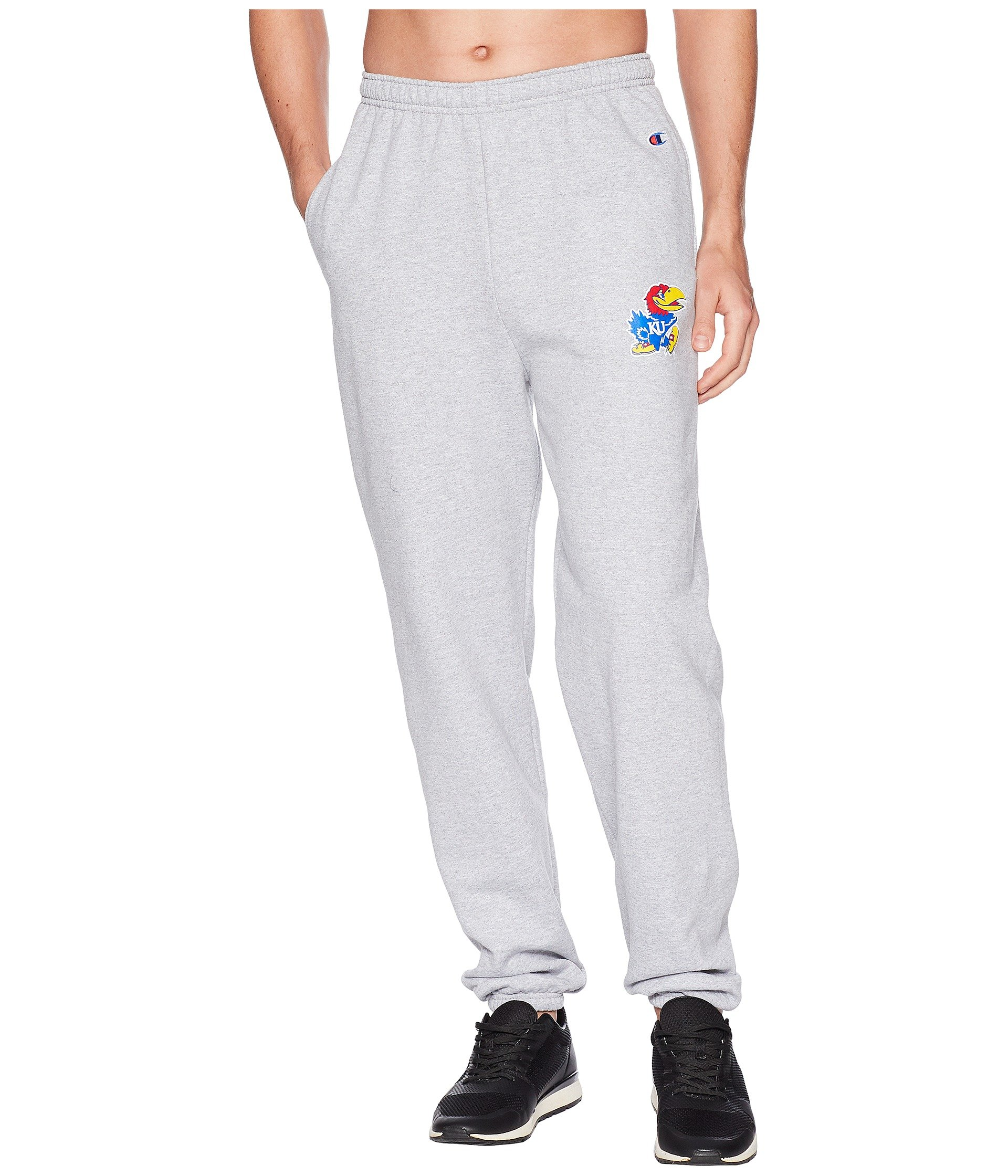 c5f055491ed97 Powerblend® Kansas College Grey Heher Banded Eco® Pants Champion Jayhawks  x7Iq5ppdw