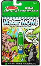 Melissa & Doug On The Go Water Wow! Jungle Activity Pad (Reusable Water-Reveal Coloring Book, Refillable Water Pen)