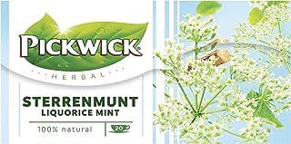 Pickwick Herbal Liquorice Mint Kruidenthee met Sterrenmunt (80 Theezakjes, 100% Natuurlijk), Cafeïnevrij, 4 x 20 Zakjes