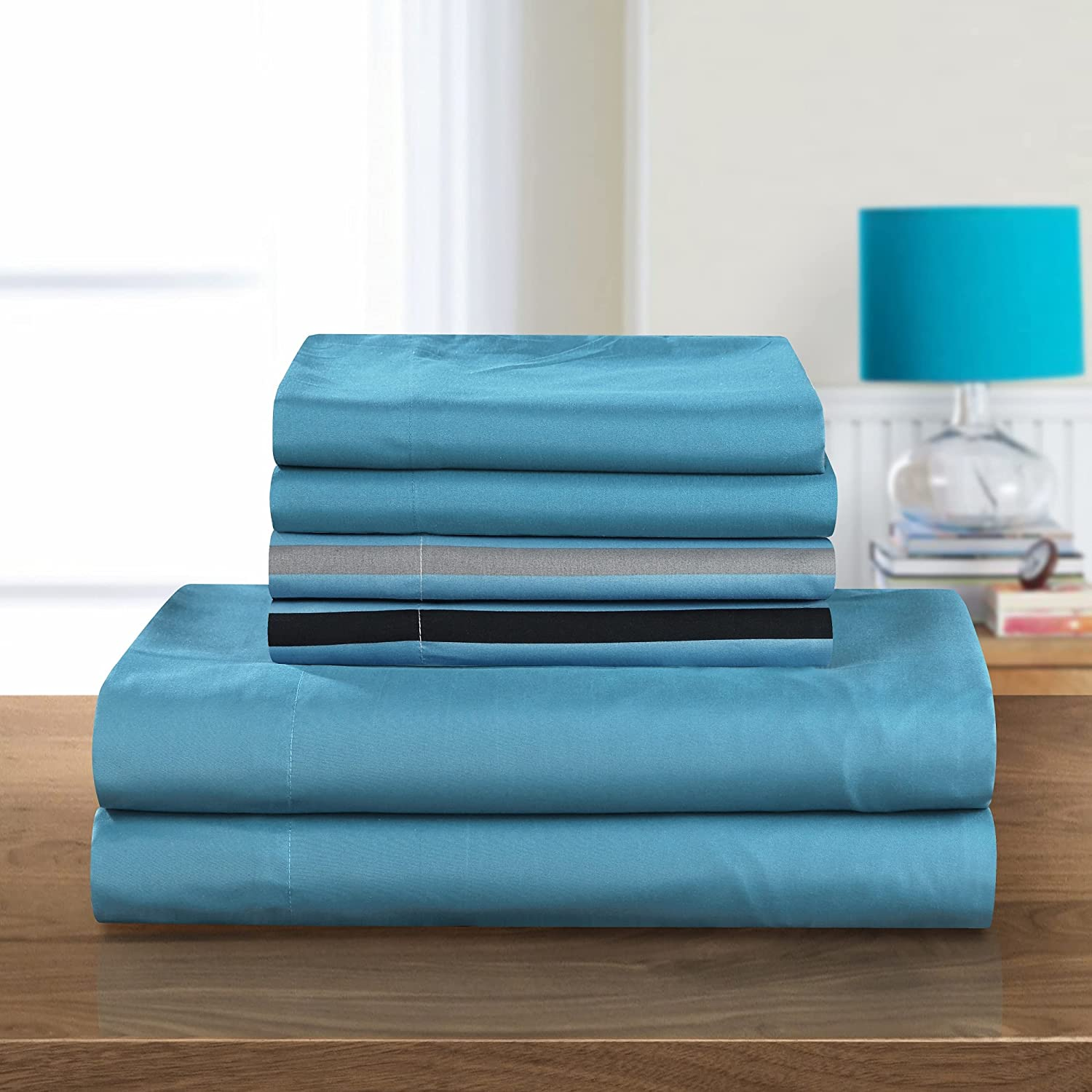 Chic Home 4 Piece Solid 2021 Translated autumn and winter new Super Brushed Sheet Microfiber Soft Set