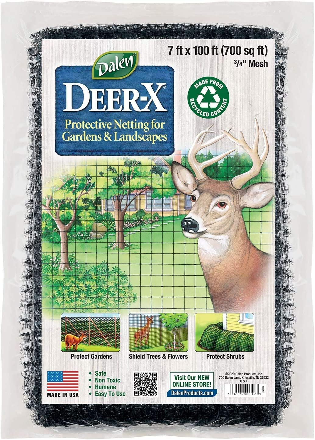 Dalen Deer X Protective Netting for Gardens and Landscapes - 7′ x 100′ - Strong and Durable 3/4″ Polypropylene Mesh with UV Inhibitors : Outdoor Decorative Fences : Patio, Lawn & Garden