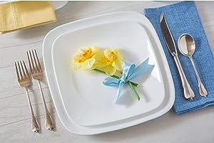 Corelle Square Pure White 16-Piece Dinnerware Set