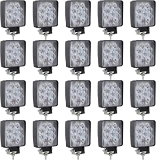 Lumitek 20PCS 4inch 27W LED Light Bar CREE Spot Light 1500LM Led Pods IP67 Waterproof 6000K Led Fog Lights Driving Lights Off-road…
