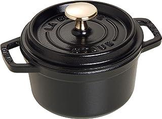 Staub 1101425 Round Cocotte Pot, 14 cm, Matt Black