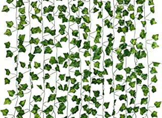 Dedoot Ivy Garland, 12 Pcs (79 Inch Each) Fake Ivy Garland Leaves Artificial Poison Ivy Leaves for Craft Costume Wedding P...
