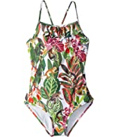 Oscar de la Renta Childrenswear - Jungle Monkeys Ruffle Swimsuit (Toddler/Little Kids/Big Kids)