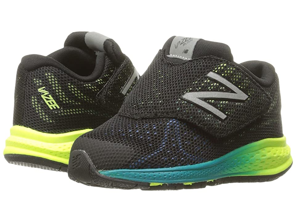 New Balance Kids Vazee Rush v2 (Infant/Toddler) (Black/Yellow) Boys Shoes