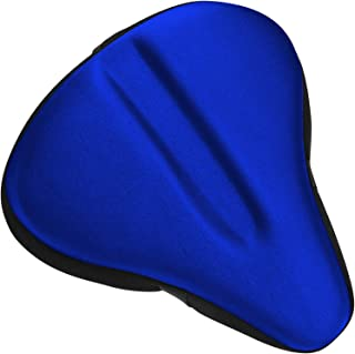 Bikeroo Large Bike Seat Cushion - (11 inches x 10 inches) Wide Gel Soft Pad Most Comfortable Exercise Bicycle Saddle Cover for Women and Men - Fits Cruiser and Stationary Bikes, Indoor Cycling