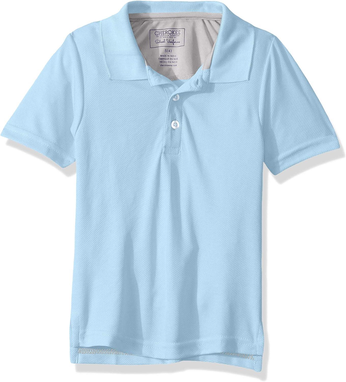 Cherokee School Uniforms Boys' Short Sleeve Performance Polo Shirt