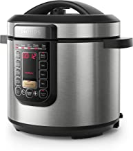 Philips Viva Collection All in One Multi Cooker/Pressure Cooker/Slow Cooker with Anti-Scratch ProCeramic+ Pot, 6L, 1000W, Silver, HD2237/72