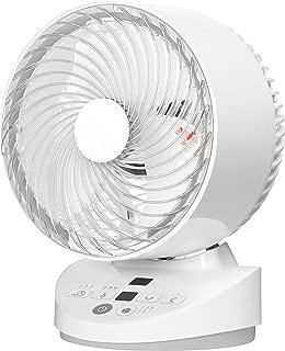 [山善] 扇風機 18cm サーキュレーター 上下左右自動首振り 風量3段階調節 温度センサー搭載 タイマー機能 リモコン付き ホワイト YAR-B18(W) [メーカー保証1年]