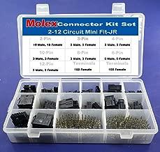 268pcs Molex Black 2-12 Circuits, Mini-Fit Jr 13amp, Glow Wire Capable