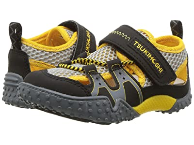 Tsukihoshi Kids Ibiza 2 (Toddler/Little Kid) (Black/Yellow) Boys Shoes