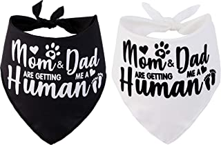JPB Mom&Dad are Getting me a Human,2 Pack Gender Reveal Dog Bandana