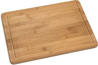 Lipper International 8818 Bamboo Wood Kitchen Cutting and Serving Board with Non-Slip Cork Backing, Large, 15-3/4