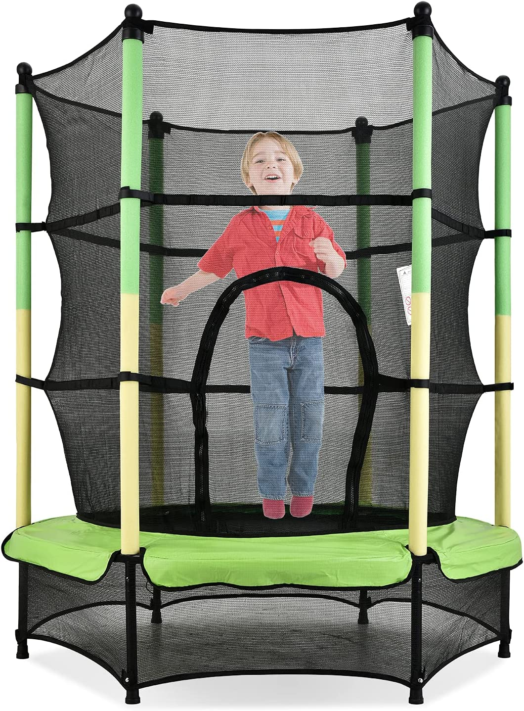Our shop OFFers the best service 55-inch Trampoline for Children Pole Yellow-Green Yellow Guard Popular