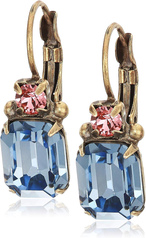 Sorrelli Women's Emerald-Cut Crystal Drop Earring, Multi, 1