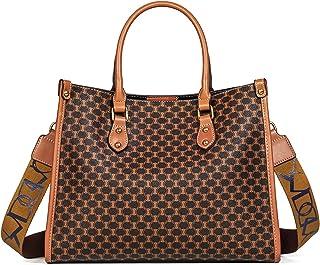 Sponsored Ad - TIBES Satchel Handbags for Women Vintage Shoulder Bag Top Handle Purses Retro Tote