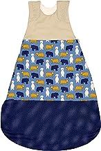 ULLENBOOM Saco de dormir para bebé sin mangas | Forro de invierno y verano para recién nacido | 4-10 meses | Certificado | beige oso