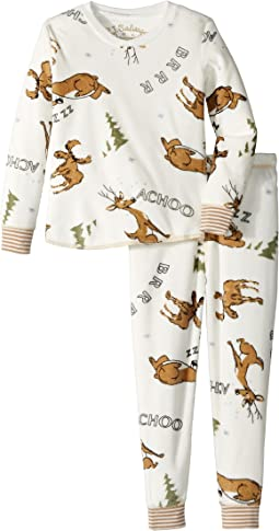 P.J. Salvage Kids - Moose Fleece Jammie Set (Toddler/Little Kids/Big Kids)