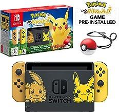 Nintendo Switch Let's Go Pikachu Limited Edition Console with Joycon, Pre-Installed Pokémon: Let's Go Pikachu + Pokeball P...