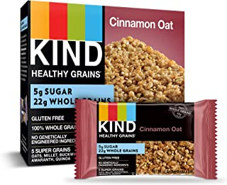 KIND Healthy Grains Granola Bars, Cinnamon Oat, Gluten Free, Low Sugar, 1.2 Ounce (30 Count)