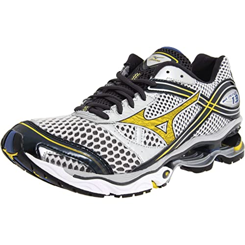 mizuno mens running shoes size 9 youth gold grey
