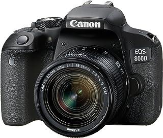 Canon EOS 800D - Cámara RÉFLEX de 24.2 MP (Pantalla táctil de 3.0 NFC Dual Pixel CMOS AF Bluetooth45 Puntos AF 6 fps Full HD WiFi) Negro - Kit Cuerpo con Objetivo EF-S 18-55IS STM