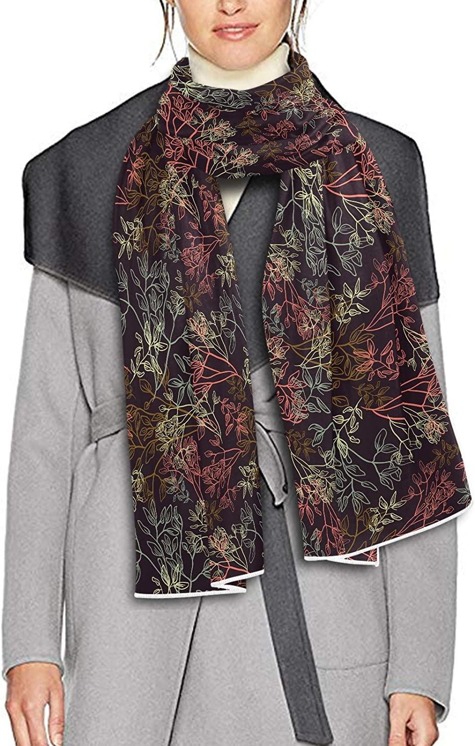Scarf for Women and Men Flower Blossom Rose Peonies Blanket Shawl Scarf wraps Soft thick Winter Oversized Scarves Lightweight