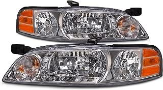 HEADLIGHTSDEPOT Compatible with Nissan Altima Halogen-Type Headlights Set Headlamps Pair New