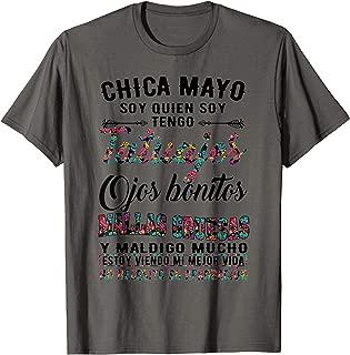 Chica Mayo soy quien soy tengo tatuajes ojos bonitos T-Shirt