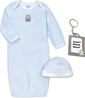 Preemie Newborn Boy Girl Unisex Layette Gown Baby Hat