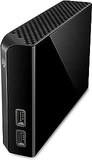 Seagate 希捷 Backup Plus Hub 4TB 外置式桌面硬盘存储器 - USB 3.0,适用于电脑桌面工作站PC笔记本电脑Mac,2个USB端口,2个月Adobe CC Photography (STEL4000100)