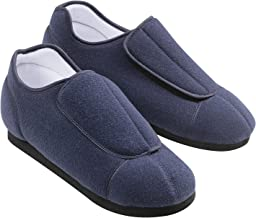 Dream Products Adjustable Comfortable Health Slippers, Ladies (8-9), Navy