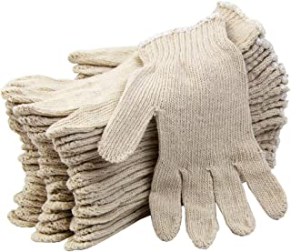 [12 Pairs, Large] Polyester Cotton Knit Safety Protection Grip Work Gloves for Painter Machanic Industrial Warehouse Garde...