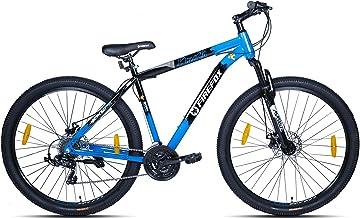 Firefox Bikes Gangzta 29D, 21 Speed 18 Frame Mountain Cycle for Men and Women (Gloss Black/Blue) I Disc Brake