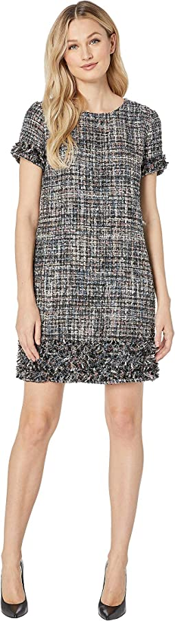 Cap Sleeve Multi Tweed Dress
