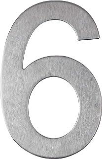 Huisnummer van roestvrij staal zelfklevend - lengte 10 cm - straatnummer - deurnummer ontwerp (6)