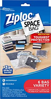 Ziploc Space Bag Clothes Vacuum Sealer Storage Bags for Home and Closet Organization, Protects from Moisture, Dust and Pes...