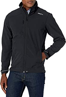 Craft Mens Light Softshell 3 Layer Jacket with Detachable Hood and Adjustable Cuffs
