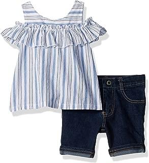 Calvin Klein conjunto de short y blusa para niña