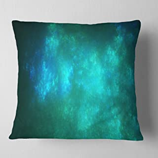 Designart Blue Starry Fractal Sky' Abstract Throw Living Room, Sofa, Pillow Insert + Cushion Cover Printed on Both Side 18...