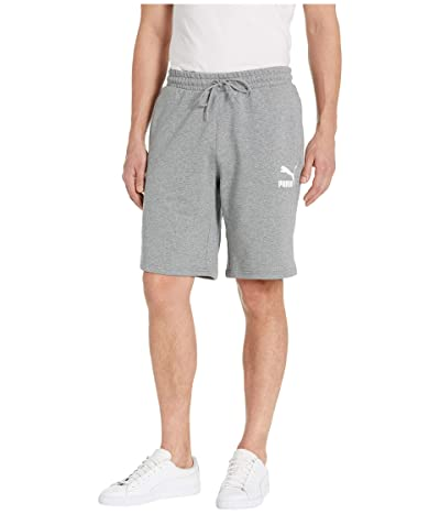 PUMA Classics Shorts 10 (Medium Gray Heather) Men